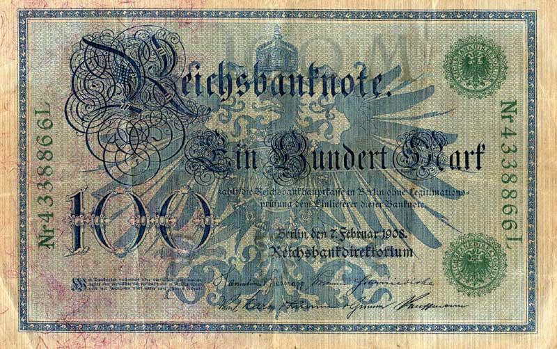 100 Reichsmark von 1908