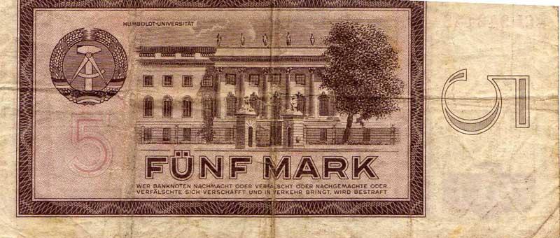 5 DDR Mark (Gebäude: Humboldt Universität)
